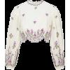 Zimmermann The Poppy Floral Crop Top - Camisas manga larga -