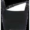 Zipper bag buckle shoulder vest - Shirts - $17.99