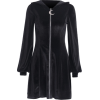 Zipper knitted long-sleeved little black skirt female suede solid color witch dr - Dresses - $25.99