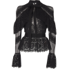 Zuhair Murad Cape Overlay Tulle Top Col - Long sleeves shirts - $2,090.00