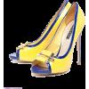 Туфли сине-желтые - Klassische Schuhe -