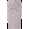 Юбка белая с драпировкой - Skirts -