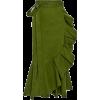 Юбка зеленая с воланом - Skirts -