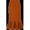 Юбка коричневая годе - Skirts -