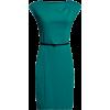 Платье-футляр бирюза с ремешком - Vestiti -