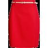 Юбка красная с ремешком - Suknje -