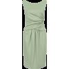 Платье с драпировкой серый - Dresses -