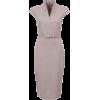 Платье классика с ремешком серый - Dresses -