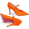 Туфли оранж кружевные - Sapatos clássicos -
