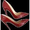 Туфли спелая черешня - Klasyczne buty -