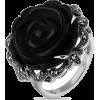 Кольцо Черная роза - Rings -