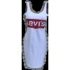 Платье-майка,белый сарафан с логотипом - ワンピース・ドレス -