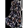 Платье синее с листочками - Zwierzęta -