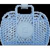 сумка плетенка голубая - Tiere -