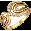 Золотое кольцо с дорожками фианитов - Anillos - $131.21  ~ 112.69€