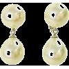 ダブルパールイヤリング/ホワイト - Earrings - ¥5,040  ~ $44.78