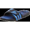 adidas Men's Santiossage Sandal Black1/AF Blue/Black1 - Sandali - $30.00  ~ 25.77€