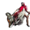 Woman with a dog - People -