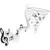 flying notes - Illustrazioni -