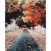 autumn road trees photo - Uncategorized -