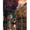 autumn street with tram - Vehicles -