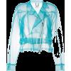 Aviu, Sheer, Tulle, Blue - Jacket - coats -