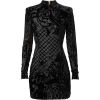 balmain black dress - sukienki -