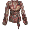 bazaar-printed-blouse - Long sleeves shirts -
