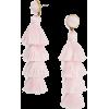 beige fringe earrings - Earrings -