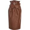 belted leather skirt - Spudnice -