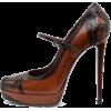 black and brown shoes - Klassische Schuhe -