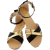 black and gold sandals - 凉鞋 -