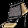 black and gold shoes - Klasične cipele -
