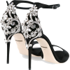 black and silver sandals - Sandals -