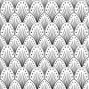 black and white art deco wallpaper - Illustraciones -