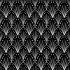black and white art deco wallpaper - Illustrations -
