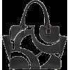 black and white bag - Hand bag -