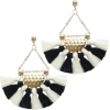 black and white earrings - 耳环 -