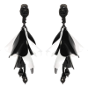 black and white earrings - Naušnice -