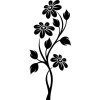 black and white flowers - Illustrations -