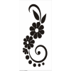 black and white flowers - Illustraciones -