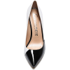 black and white pointed pumps court shoe - Classic shoes & Pumps -