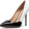 black and white pointed pumps court shoe - Klasyczne buty -