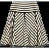 black and white skirt - Skirts -
