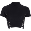 black crop - Camisola - curta -