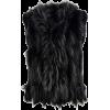 black fur vest - Jacket - coats -