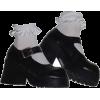 black heeled with socks - Platforms -