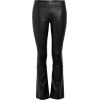 black pants leather - Capri-Hosen -