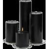 black pillar candles - Items -