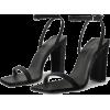 black sandals4 - Sandalias -
